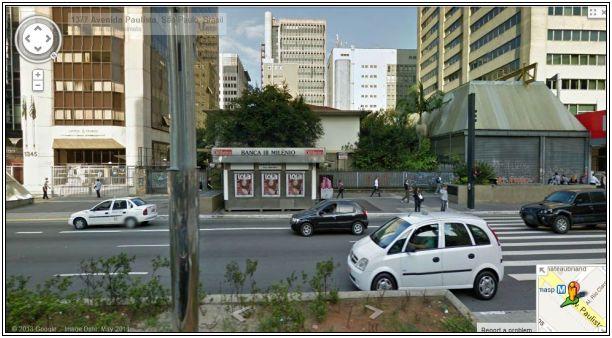 O casarão de estilo moderno, no nº 1.373 da Avenida Paulista antes da demolição.