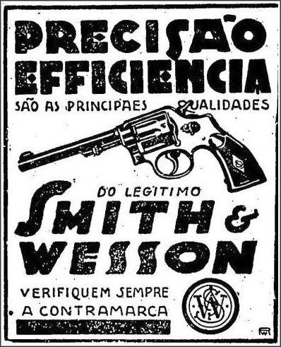 Propaganda da arma utilizada por Peixoto Gomide