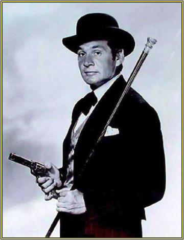 Gene Barry como Bat Masterson, seriado de faroeste dos anos 60