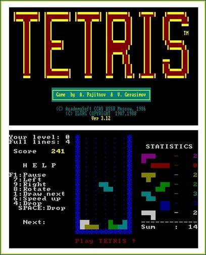 Versão 3.12 para DOS, usando as cores de monitores CGA/EGA.