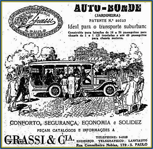 """Fig. 1: Propaganda da Grassi em 1930, ilustrando o """"Mamãe me leva"""""""