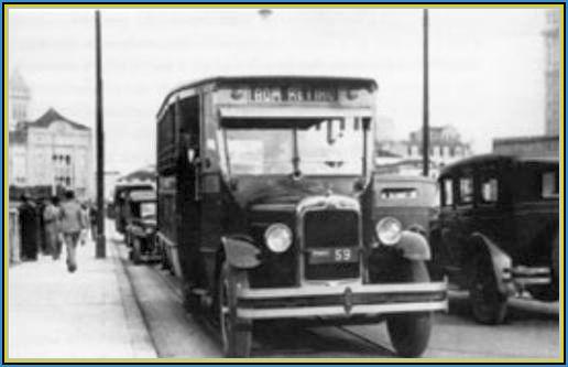 """Fig. 3: O """"mamãe me leva"""" no viaduto Santa Efigênia no final dos anos 20, do século passado."""