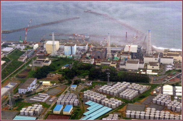 Alguns dos 350 reservatórios na usina que guardam água contaminada estão vazando.
