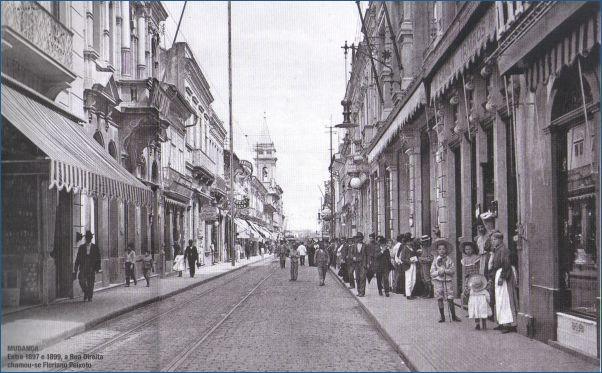 Entre 1897 e1899, a Rua Direita chamou-se Floriano Peixoto