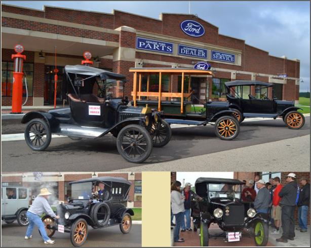 O museu Gilmore Cars (acima) e alunos do curso (abaixo)