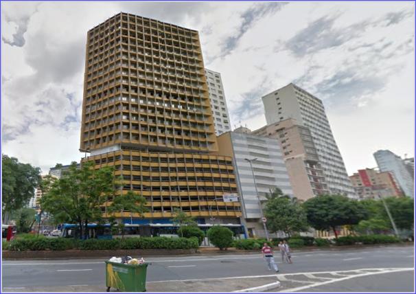 O então Edifício Joelma, hoje Edifício Praça da Bandeira, certamente modernizado para atender as novas legislações de segurança.