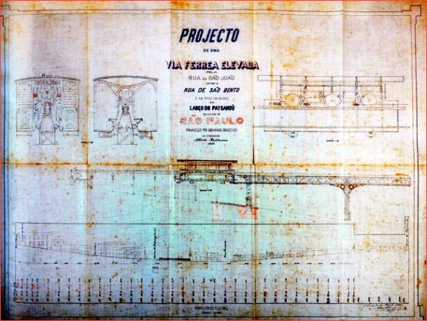 O monotrilho do engenheiro Alberto Kuhlmann em 1888