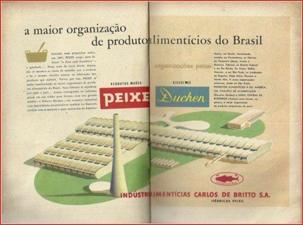 A propaganda na época áurea mostrando a sinuosa fábrica (1952) – (Luciano Cartegni)
