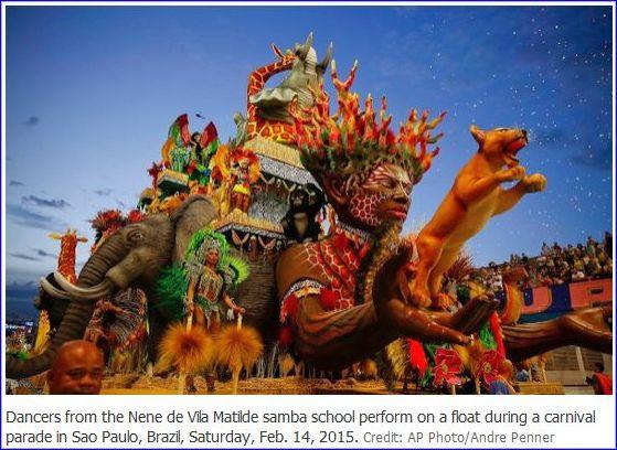 Evolução com alegorias de luxo foi um aperfeiçoamento midiático para atender sobretudo a turismo e realçar o evento carnavalesco como artigo de consumo, onde o samba muitas vezes é apenas coadjuvante. Certamente os carros utilizados com alegorias do famoso Corso do início do século 20 foram inspiração para esta característica das escolas de samba.