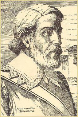 Uma ilustração do possível retrato de Amador Bueno.