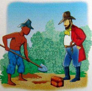 """Ilustração do """"enterro"""" do tesouro. Fonte da imagem: Campos do Jordão Cultura"""