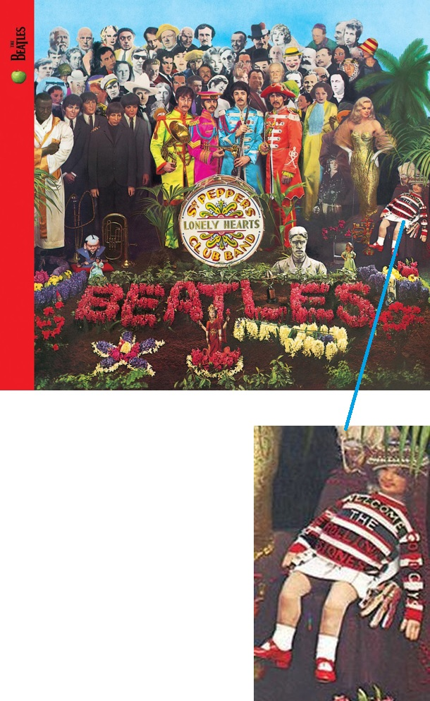 No álbum Sargent Peppers Lonely Hearts Club Band de 1967, os Beatles dão boas vindas aos Rolling Stones.