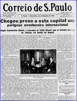 Correio de São Paulo 21 de Outubro de 1932