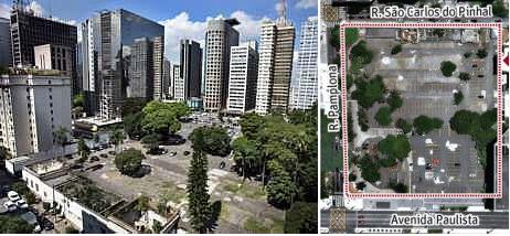Durante anos a área de 13.000 m² funcionou com estacionamento, onde apenas os fundos da mansão e seu portões de acesso permaneceram intactos.