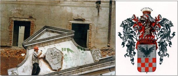 Um dos momentos mais tristes, a retirada do brasão da família, tanto casa como do portão principal de acesso (Av.Paulista x Rua Pamplona) em 1996 a mando de Maria Pia Matarazzo.