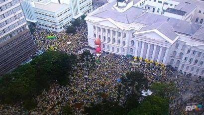 Curitiba, a sede das apurações da Lava Jato e do juiz Sergio Moro, também teve a maior manifestação de sua história.