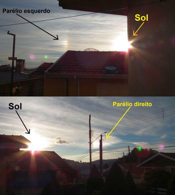 Imagens de um parélio registrado pelo blog em 11 de Julho de 2012 em Campos do Jordão, SP